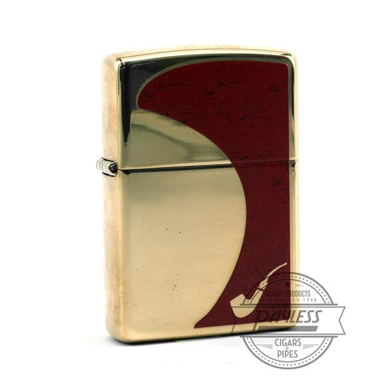 Zippo Red And Gold Pipe Lighter