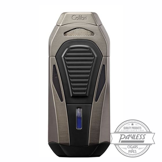 Colibri Boss Triple Jet Lighter with Cutter - Brushed Gunmetal (LI950T6)