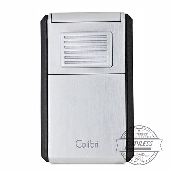 Colibri Astoria Triple Jet Lighter with Cutter - Chrome & Black (LI600C2)