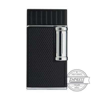 Colibri Julius Classic Double-Flame Flint Cigar Lighter Black & Chrome (LI221C2)