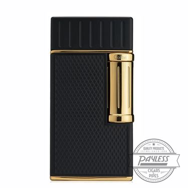 Colibri Julius Classic Double-Flame Flint Cigar Lighter Black & Gold (LI221C3)