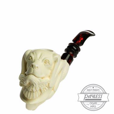 SMS Meerschaum Pipe Claw W/Dog (074)