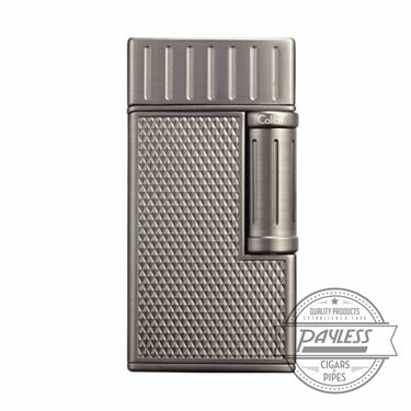 Colibri Julius Classic Double-Flame Flint Cigar Lighter Brushed Gunmetal (LI221C9)