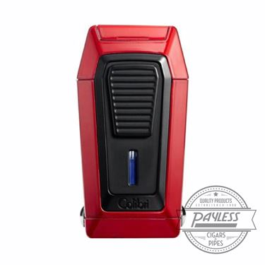 Colibri Gotham Triple Flame Lighter With V-Cutter - Red & Black (LI970C4)