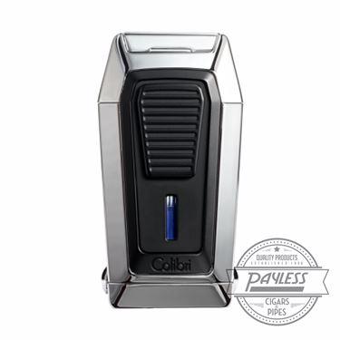 Colibri Gotham Triple Flame Lighter With V-Cutter - Chrome & Black (LI970C2)