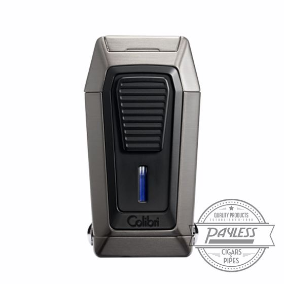 Colibri Gotham Triple Flame Lighter With V-Cutter - Gunmetal & Black (LI970C3)