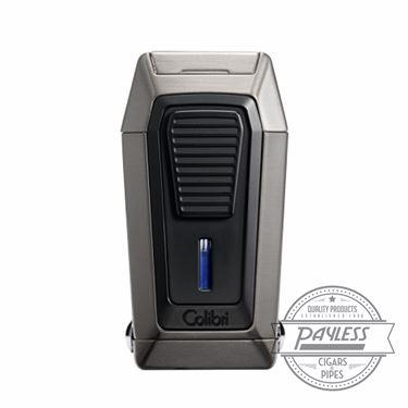 Colibri Gotham Triple Flame Lighter With V-Cutter - Gunmetal & Black (LI970C3)