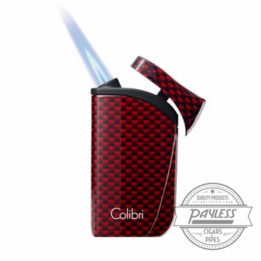 Colibri Falcon Single-Jet Flame Lighter Red Carbon Fiber (LI310T7)