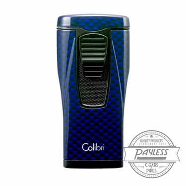 Colibri Monaco Triple-jet Flame Lighter Blue Carbon Fiber (LI880T13)