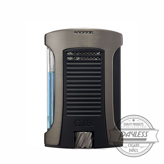 Colibri Daytona Single-Jet Flame Lighter Gunmetal & Black (LI770T2)