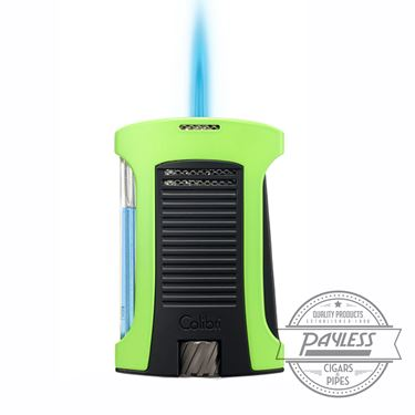 Colibri Daytona Single-Jet Flame Lighter Green & Black (LI770T6)