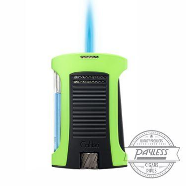 Colibri Daytona Single-Jet Flame Lighter Green & Black (LI770T6)