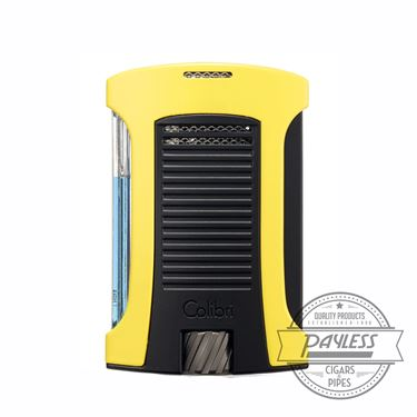 Colibri Daytona Single-Jet Flame Lighter Yellow & Black (LI770T7)