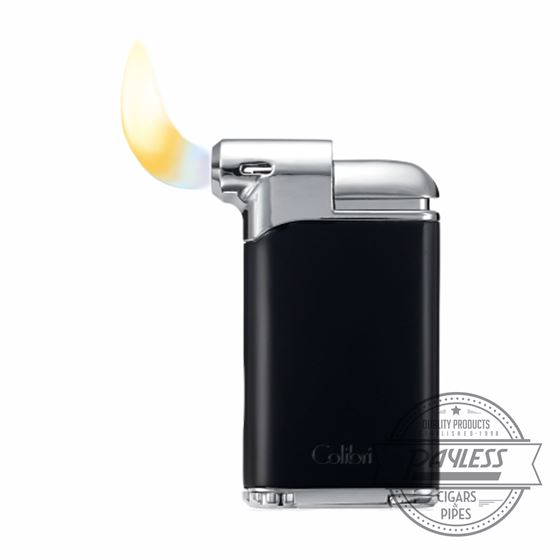 Colibri Pacific Air Pipe Flame Lighter - Black/Chrome (LI400C5)