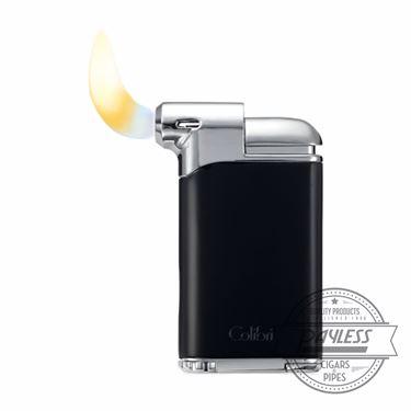 Colibri Pacific Air Pipe Flame Lighter - Black/Chrome (LI400C5)