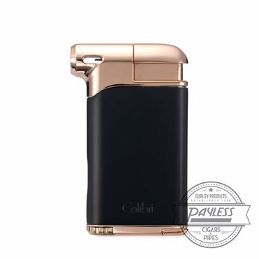 Colibri Pacific Air Pipe Flame Lighter - Black/Rose (LI400C9)