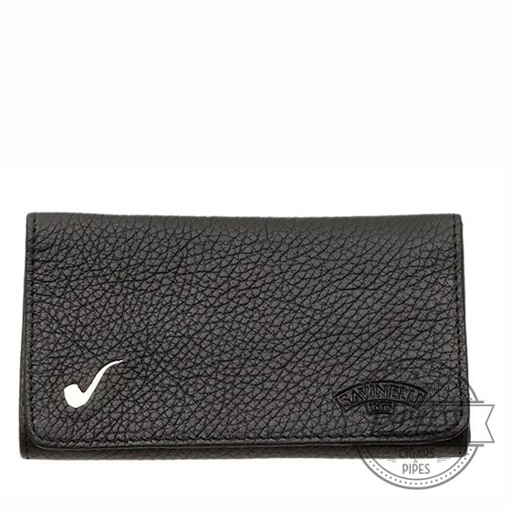 Savinelli Nappa Roll-up Tobacco Pouch - Black