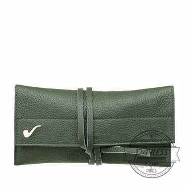 Savinelli Roll-up Pipe Pouch - Green