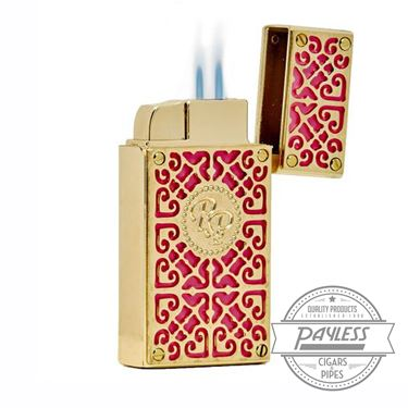 Rocky Patel Burn Lighter Pink & Gold