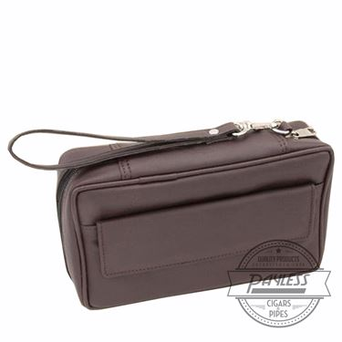 Castleford 4 Pipe Combo Pouch Brown