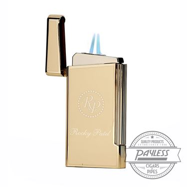 Rocky Patel Decade Limited Edition Dual Lighter - Natural/Gold
