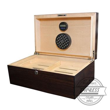 Solstice Dark Walnut Humidor (75-ct)