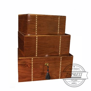 Savoy Ironwood Marquetry Humidor - Small
