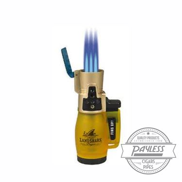 Landshark Yellow Jack Triple Flame Torch Lighter by Lotus
