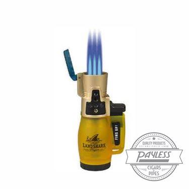 Landshark Yellow Jack Triple Flame Torch Lighter by Lotus