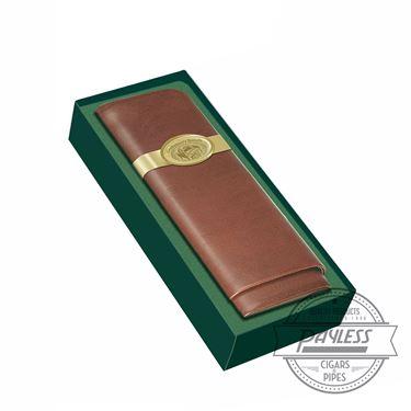Craftsman's Bench 3 Cigar Tan Leather Case (54-Ring Churchill)