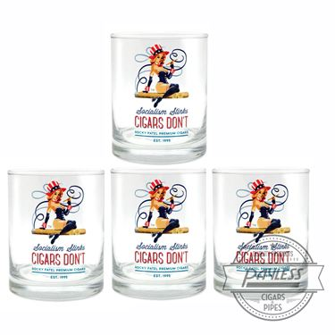 Rocky Patel Glass Set of 4 - Socialism Stinks