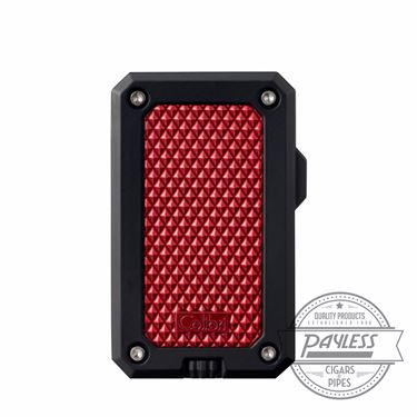 Colibri Rally Single Jet Flame Cigar Lighter Black & Red (LI360T4)