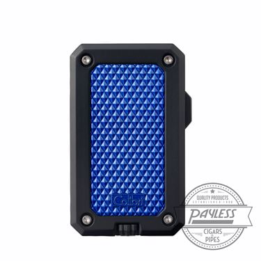 Colibri Rally Single Jet Flame Cigar Lighter Black & Blue (LI360T5)
