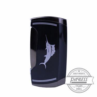 Tommy Bahama Rocker Black Dual Torch Lighter