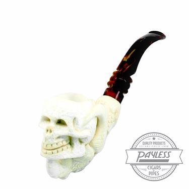 Paykoc Meerschaum Claw Holding Skull Pipe B-9