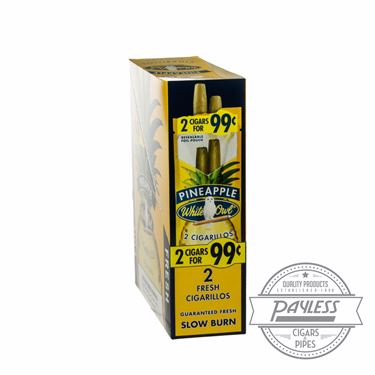 White Owl Cigarillos Pineapple 15 packs of 2
