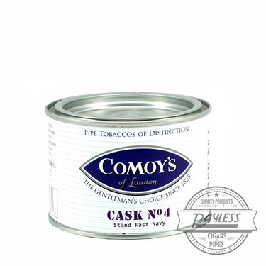 Comoy's Cask No. 4 Stand Fast Navy Tin