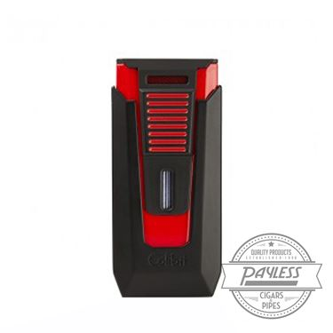 Colibri Slide Double-jet Flame Lighter - Black and Red (LI850T14)