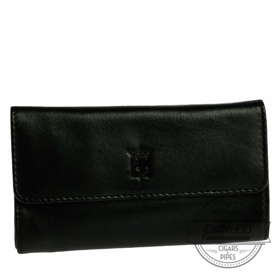 Chacom Leather Fold Pouch Black - 4N