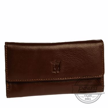 Chacom Leather Fold Pouch Havana - 4H