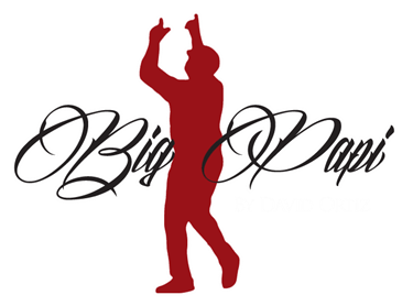 Big Papi By David Ortiz Cursive Logo with Silhouette