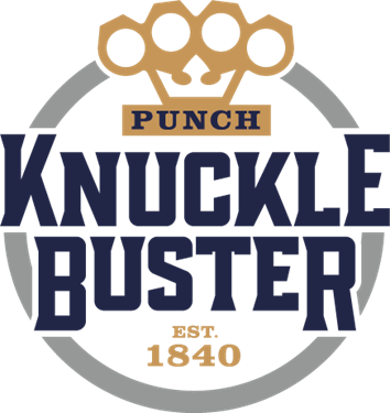 Punch Knuckle Buster Blue and Gold Logo