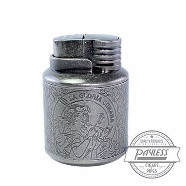 La Gloria Cubana Custom Lighter gunmetal/steel table lighter