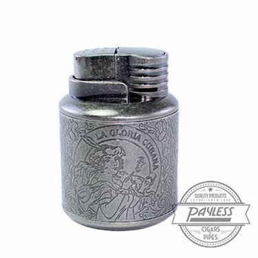 La Gloria Cubana Custom Lighter gunmetal/steel table lighter