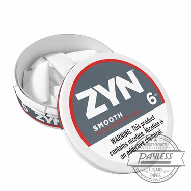 Zyn Smooth 6mg (5 cans)
