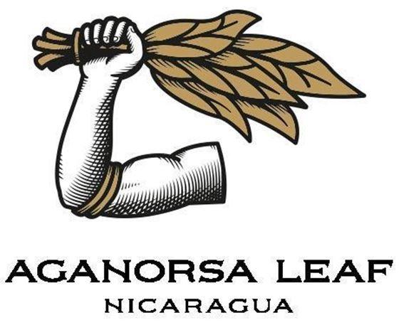 Aganorsa Leaf Logo - arm holding tobacco leaves