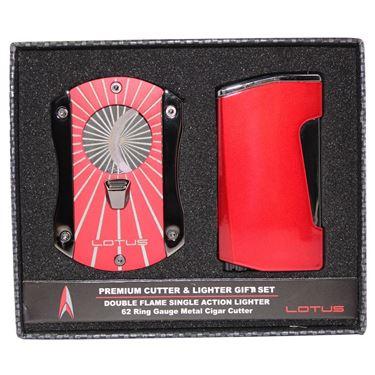 Lotus Chroma Lighter & Deception Cutter Gift Set - Red