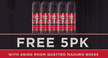 Free Aging Room Quattro 5-pack with box purchase of Aging Room Quattro Maduro